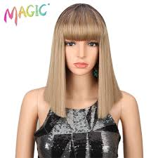 <b>Magic Hair Synthetic Wigs</b> For Women 14 Inch Blonde Wig Short ...