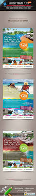 holiday travel flyer vol vector stock image holiday travel flyer vol 02