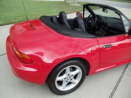 bmw z3 28 five speed manual red with black interior and top black interior 1996 bmw z3