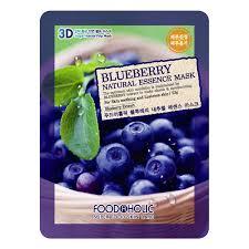 <b>Тканевая 3D маска с</b> черникой FoodaHolic Blueberry Natural ...