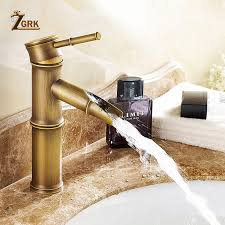<b>ZGRK Bathroom Faucet</b> Brass Basin Faucets Tap Tall Bamboo <b>Hot</b> ...
