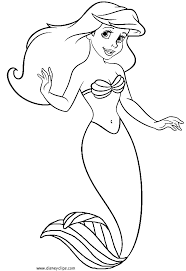 Small Picture Mermaid Coloring Pages For Toddlers Coloring Pages