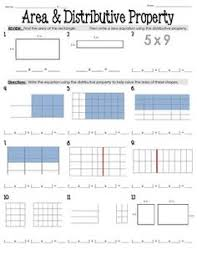 Distributive property, Graphic organizers and Assessment on PinterestArea with Distributive Property Worksheet 3.MD.7, 3.MD.7c