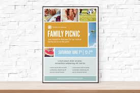 diy printable picnic collage event template flyer for church 🔎zoom