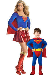 <b>Superman</b> and Supergirl <b>Mommy and Me</b> Costumes - Party City in ...