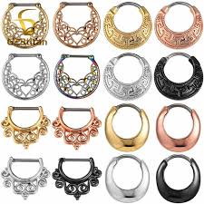 2019 <b>G23titan Nose Piercing Rings</b> 16G Titanium Pole Nose Ring ...