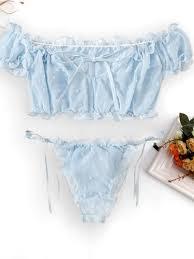 Buy <b>Women's</b> Nightwear Set <b>Sexy</b> Solid Color Slash <b>Neck Cropped</b> ...