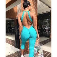 <b>2019 New</b> Gym clothing One pieces Sports Suit female Sexy ...