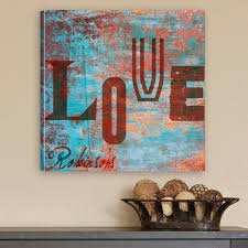 Personalized Gift <b>Watercolor</b>-<b>Graffiti</b> Style <b>Love</b> Graphic Art on Canvas
