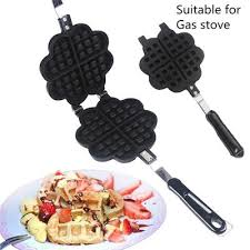 Electric <b>Waffle Maker</b> Machine Non-stick Copper Ceramic Plate For ...