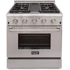 Gas Stainless Steel Cooktop Kucht Pro Style 30 In 42 Cu Ft Natural Gas Range With Sealed