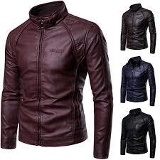 Mens Leather Jacket <b>2018 Autumn</b> Winter <b>New</b> Style <b>Men's</b> ...