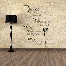 d daisy home bedroom decor wall stickers pc daisy wall stickers fashion dance live love sing letters wall post