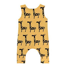 <b>Baby Clothes</b> Set, Girls Boys Cartoon Giraffe <b>Print</b> Romper Long ...