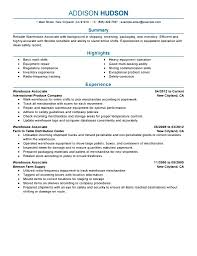 warehouse resume no experience samples examples format warehouse resume no experience