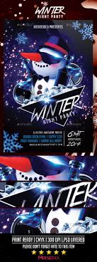 winter night party flyer by mergeidea graphicriver winter night party flyer events flyers