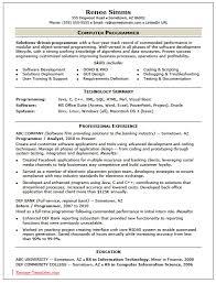 cv video game programmer resume