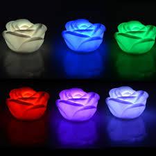 <b>10pcs</b>/<b>lot</b> Romantic Rose Flower <b>led</b> Night Light <b>Color</b> Changed ...