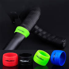 <b>1 Pair Cycling</b> Handlebar Tape Fixing Sleeve Silicone Rubber Anti ...