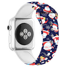 <b>Christmas Silicone strap</b> For Apple Watch band 44mm 40mm Sport ...