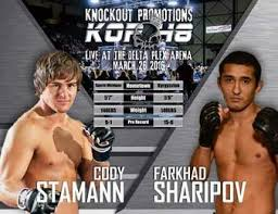 Image result for KOP 48: Cody Stamann v Farkhad Sharipov