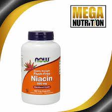 NOW Foods <b>Flush</b>-<b>Free Niacin Double Strength</b> 500mg 180 Veg ...