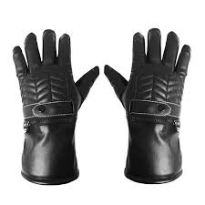 Black Male/Female Touch screen <b>Electric Heated Gloves Winter</b> ...