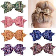 "5"" Charming <b>Glitter Hair Bows</b> Sequin <b>Barrettes</b> Girls <b>Bow</b> Clips ..."