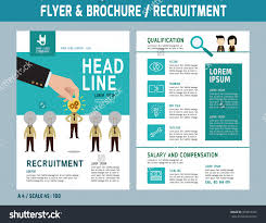 recruitment flyer design vector template a stock vector  recruitment flyer design vector template in a4 size brochure and layout design business concept