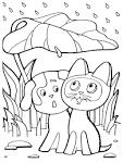 Котята щенки раскраски