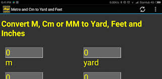 m, cm, mm to <b>yard</b>, feet, inch converter tool - Apps on Google Play