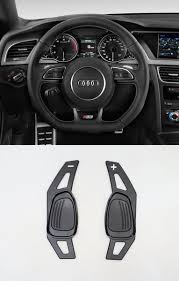 Pinalloy Black Metal Alloy Steering Paddle Shifter Extension <b>for Audi</b>