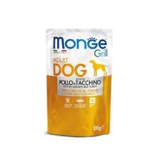 <b>Monge Dog Grill</b> Pouch <b>паучи</b> для собак с курицей и индейкой - 100 г