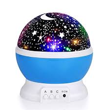 Luckkid <b>Baby</b> Night Light Moon Star Projector <b>360 Degree Rotation</b>