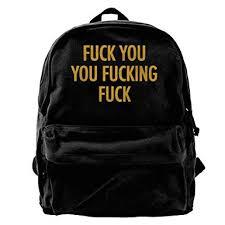 Fuck You Unisex Vintage Canvas Backpack Travel ... - Amazon.com