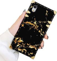 Square <b>Case</b> Compatible iPhone XR Gold Black Marble <b>Luxury</b>