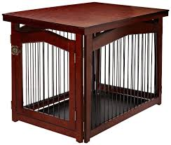 furniture style brown wood dog crate as end table furniture style dog crates