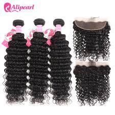 AliPearl Hair 3 Bundles <b>Brazilian Deep Wave 100</b>% Human Hair ...