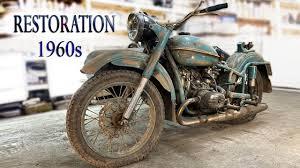 Восстановление старого мотоцикла из 1960-х | Old Soviet ...