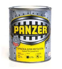 Купить <b>Краска Panzer</b> для <b>металла</b> гладкая черная, 750 г с ...