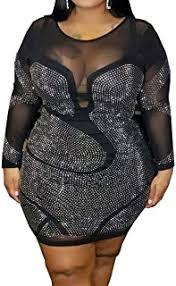 sexy black plus size dress - Dresses / Clothing ... - Amazon.com