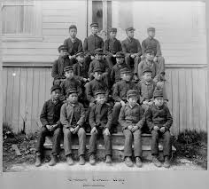 at least aboriginal children died in residential schools students pose for photo outside metlakatla n residential school in metlakatla b c commission handout