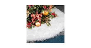 Dreampark Christmas Tree Skirts, 120cm White Tree Skirt ...