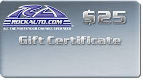 Did You Know that RockAuto Offers Gift Cards? RockAuto Discount