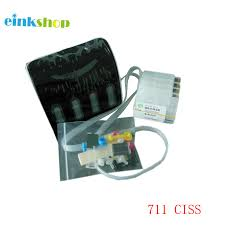 <b>einkshop</b> Brand <b>Empty CISS</b> With Auto Reset Chips For HP 711 ...