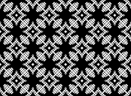 Black and White Pattern With <b>Ethnic</b> Motifs and <b>Polka</b> Dot by Anna ...