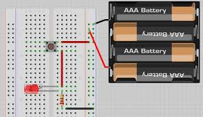 how to use a breadboard and build a led circuit completecircuit completed circuit