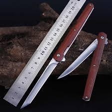 Flipper <b>M390 Mini Folding</b> Pocket Knife Wood Handle Rescue ...