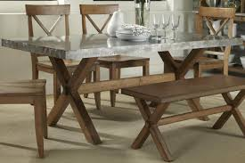 stainless steel top rectangle dining table