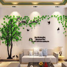 <b>Large Size Tree</b> Acrylic Decorative <b>3D</b> Wall Sticker DIY Art TV ...